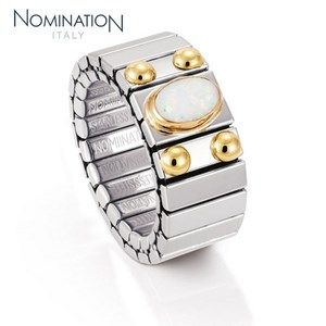 Bague Nomination Collection Extension Medium avec Opale Blanche