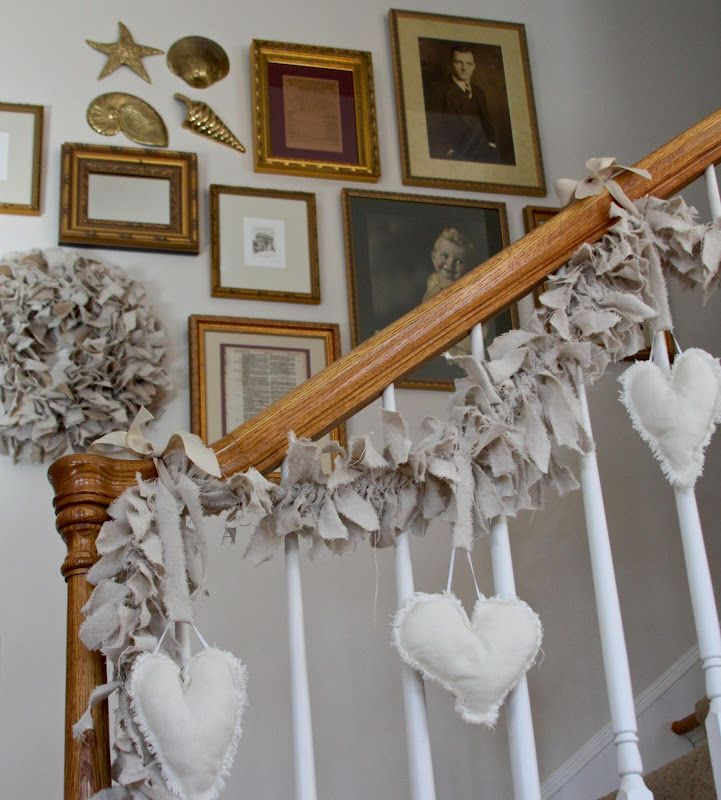 Woven Home: Canvas Rag Wreath and Gallery Walls