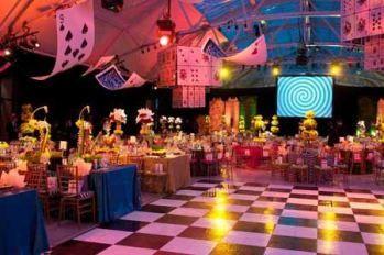 alice in wonderland, alice in wonderland prom, alice in wonderland prom theme, diy, prom, dance, homecoming, uplighitng