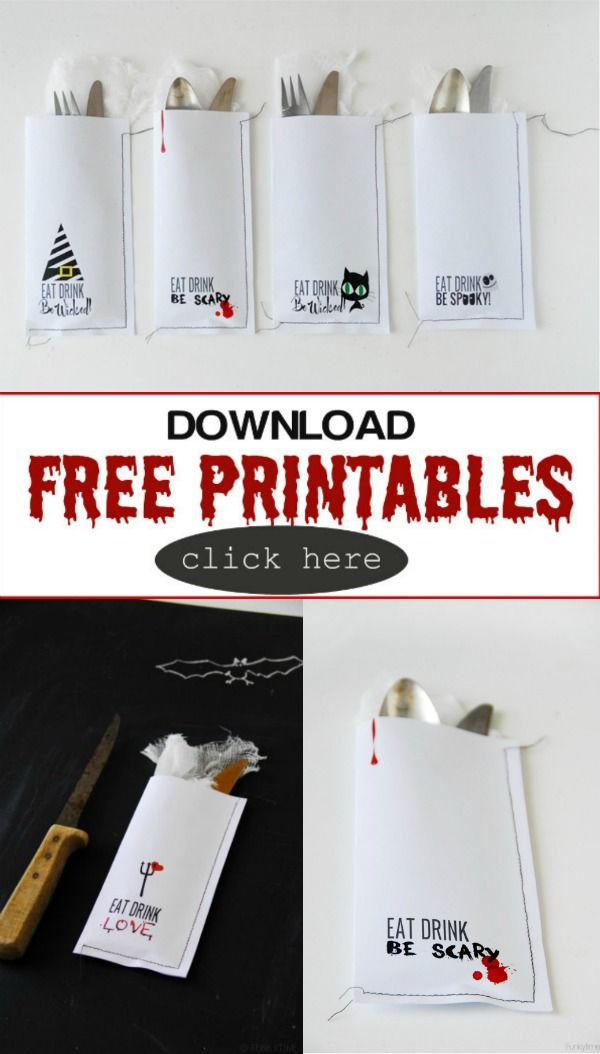 Creative Ideas for Halloween | Free Halloween Printables for your halloween table | TodaysCreativeBlog.net