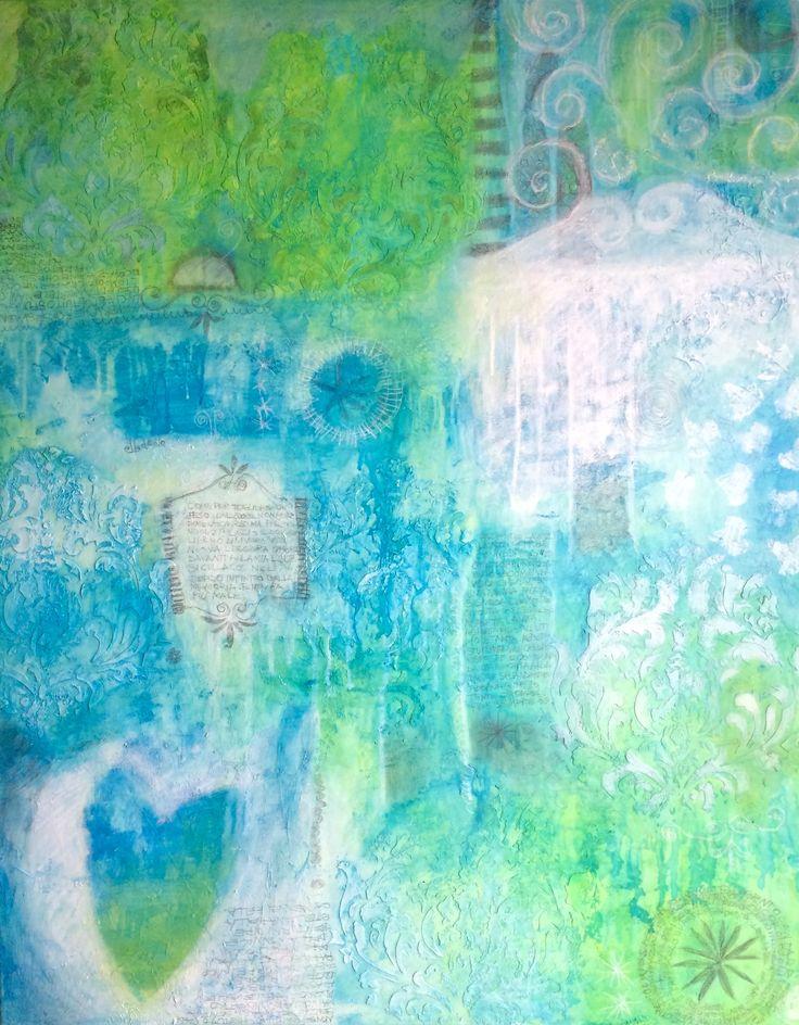 Il lago incantato Tecnica mista su tela cm 100x80 #cristianabrondi