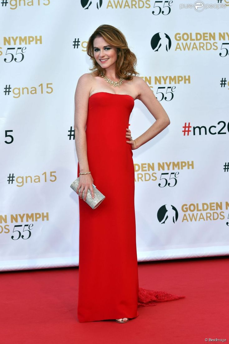 Sarah Drew styled by Eric Himel. for the Golden Nymph Awards in Monte Carlo
