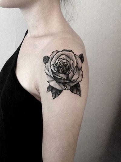 Black Rose Shoulder Ink  http://tattoo-ideas.us/black-rose-shoulder-ink/