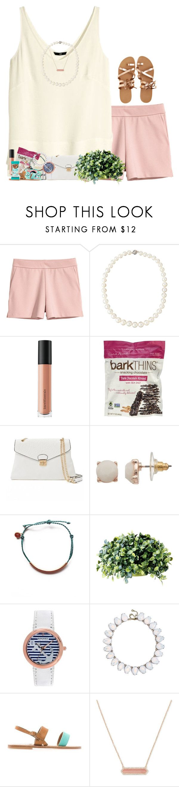 """""""standing as the oceans roar"""" by livnewell ❤ liked on Polyvore featuring H&M, Belpearl, Bare Escentuals, Mellow World, LC Lauren Conrad, Pura Vida, Barreveld, Sperry, BaubleBar and K. Jacques"""