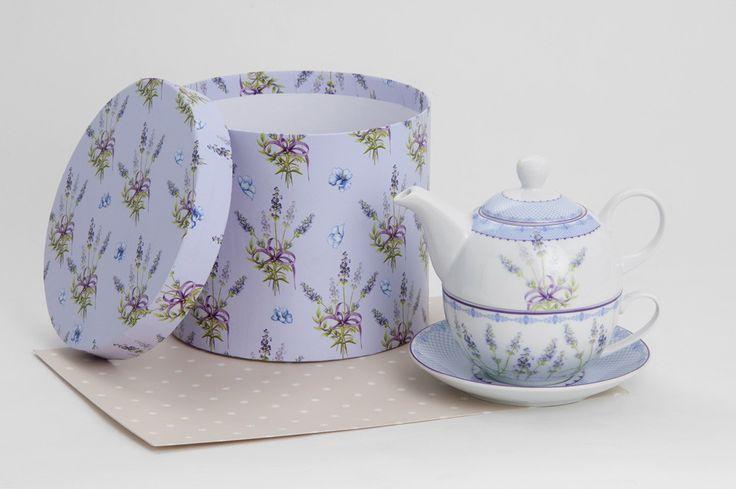Lavender tea pot set for one