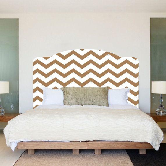 Chevron tête de lit chambre sticker mural mur par PrimeDecal