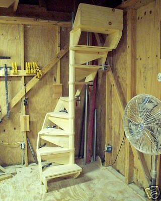 "SPIRAL STAIRCASE KIT, 40"" DIA, easy to assemble, modular design #KLINEDESIGNSTACKABLESTAIRCASES $345"