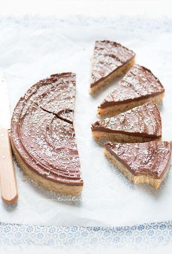 Torta cocco e cioccolato fredda - senza cottura - Ricetta di Tavolartegusto