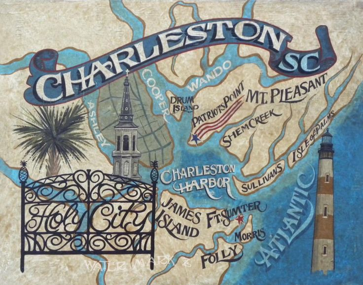 Best Charleston Sc Map Ideas On Pinterest Charleston South - Sc map