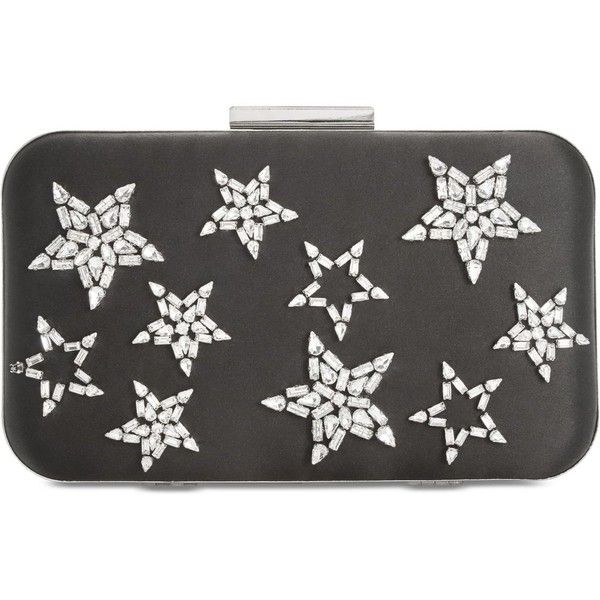 Anna Sui x INC Rhinestone Star Clutch, Created for Macy's ($90) ❤ liked on Polyvore featuring bags, handbags, clutches, black, rhinestone studded purse, star purse, chain strap purse, rhinestone handbags and chain-strap handbags