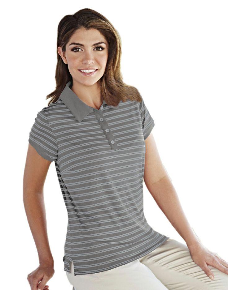 Women's Knit Polo Shirts (100% Polyester) Tri mountain 416