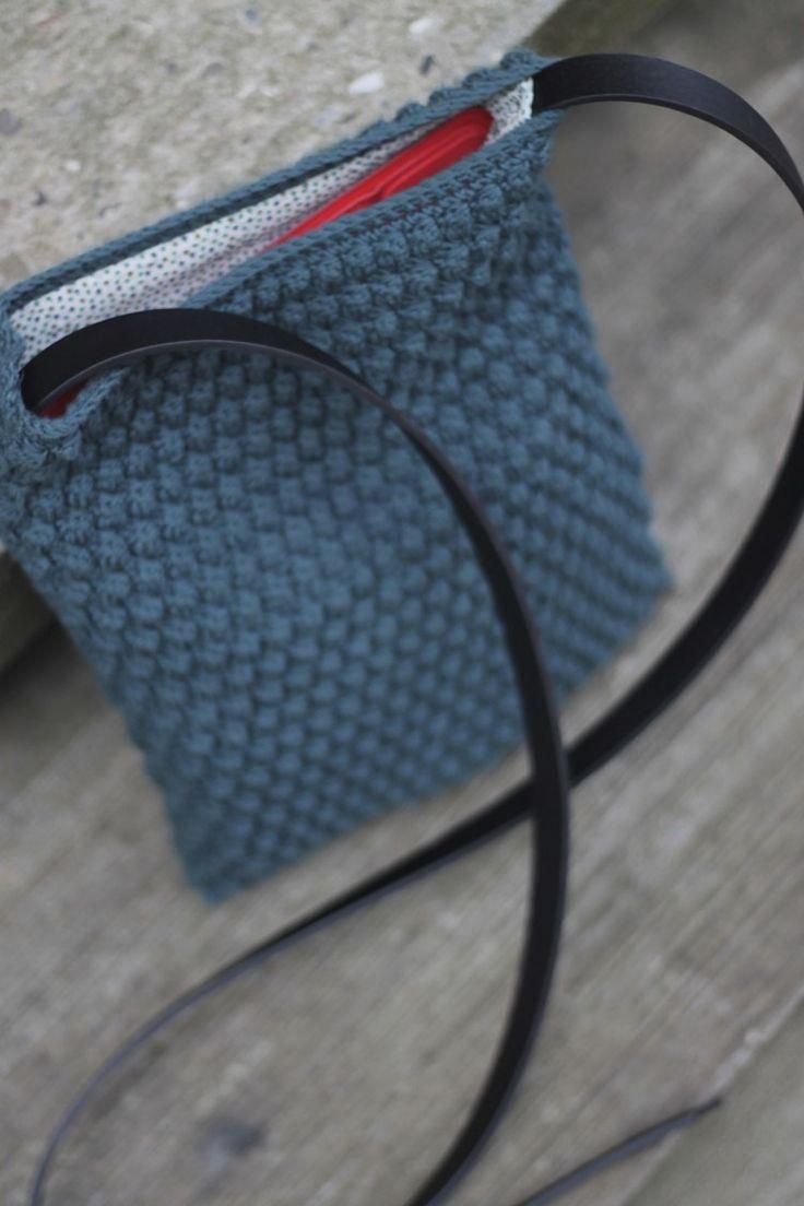 Hæklet taske - bobleteknik Crochet bag - popcorn stitch #cicitiveipadbobletaske www.cicitive.dk