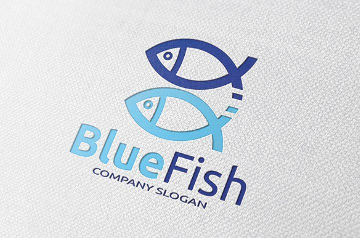 Blue Fish Logo Fish Blue Templates Logo Fish Logo Logos Templates