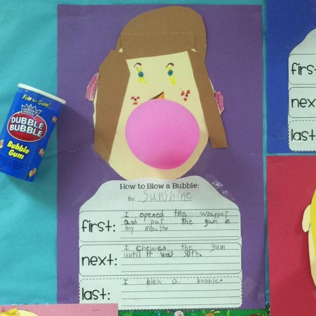 Bubble Gum Writing!