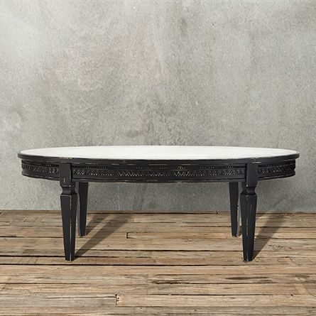 Amelia 54  Oval Coffee Table In Black. Best 25  Oval coffee tables ideas on Pinterest   Painted coffee