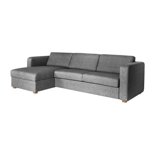 Porto II Petit canapé-lit Habitat en tissu avec angle réversible et rangement pas cher prix Black Friday Habitat 1 332.00 € TTC au lieu de 1 899 €