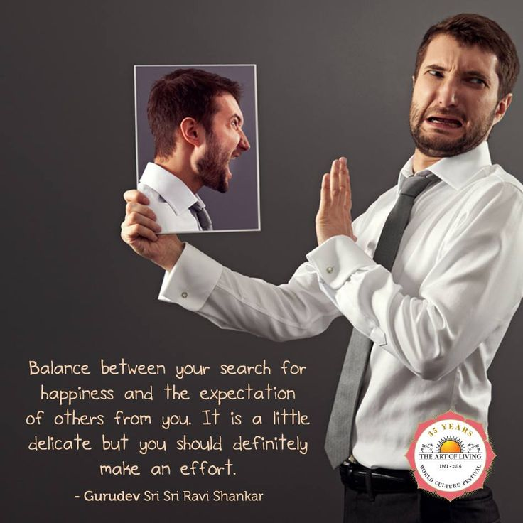 """""""Balance between your search for happiness and the expectation of others from you. It is a little delicate but you should definitely make an effort."""" - Gurudev Sri Sri Ravi Shankar"""