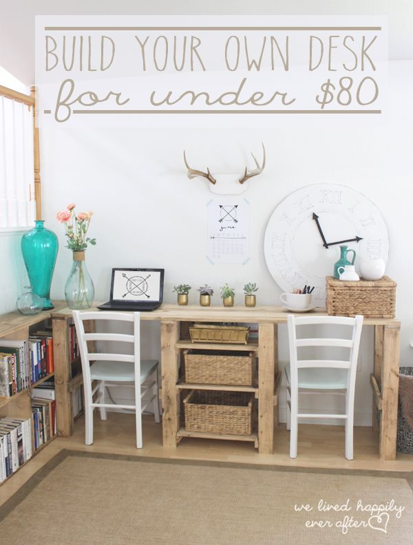 build your own home office. diy desk designs you can customize to suit your style build own home office
