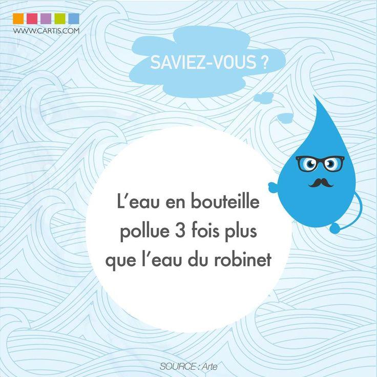 Plus de bouteilles d'#eau, plus de #pollution...