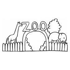 Image result for zvířata v zoo omalovánky