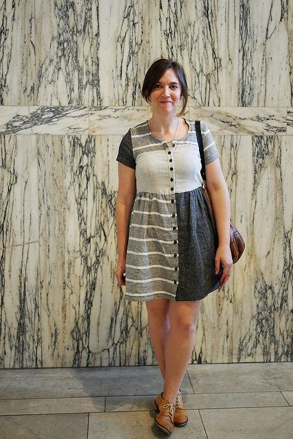 Great idea! Patchwork dress @whatkatiedoes