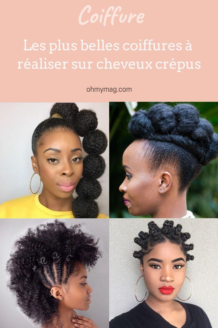Cheveux Afros Les Plus Belles Coiffures A Realiser Cheveux Afro Belle Coiffure Coiffure