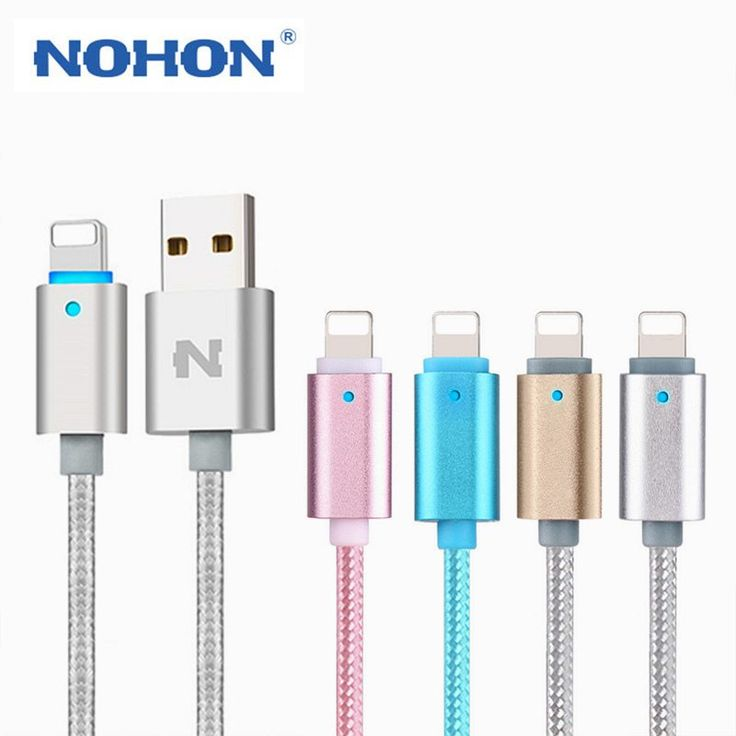 Original NOHON LED Lighting Cable 8Pin USB Charging Cable For Apple iPhone 7 6 6S Plus 5 5S iPad iPod Data Sync Smart Power-Off //Price: $6.36//     #storecharger