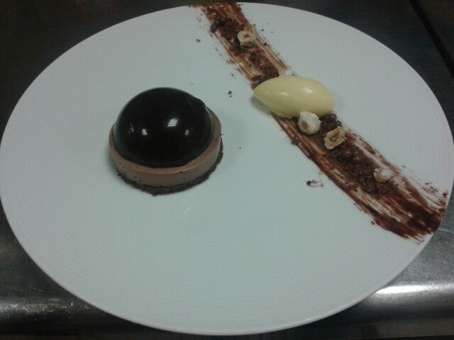 Chocolate Dome with White Chocolate Orange Ice Cream
