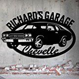 Chevelle Garage  1970 Chevelle SS  Personalized Metal Sign  Metal Wall Art  Garage Sign Custom Name 26.5 Wide x 16.75 Tall