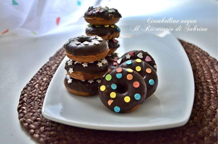 Ciambelline vegan al cioccolato