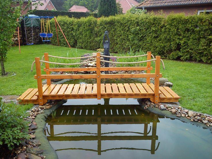Die besten 25+ Teichbrücke Ideen auf Pinterest Gartenbrücke - teich wasserfall modern selber bauen