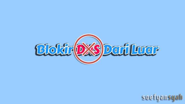 Blokir Incoming Trafik Dari Luar : Blokir Tafik Yang Mengakses DNS Dari Luar.