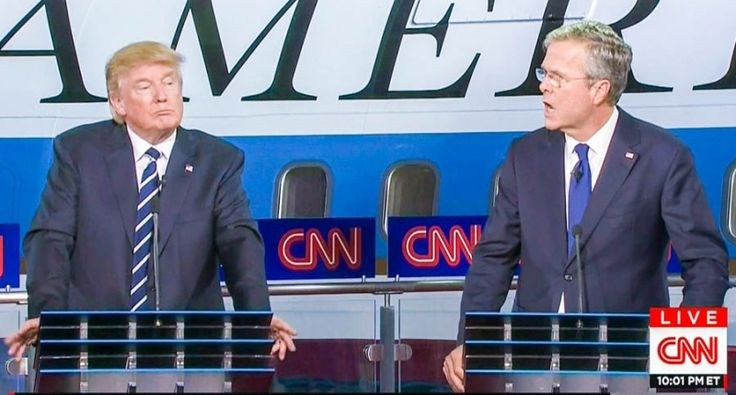 Jeb Bush gets testy at CNN debate about brother's record: 'There's one thing I know for sure, he kept us safe'