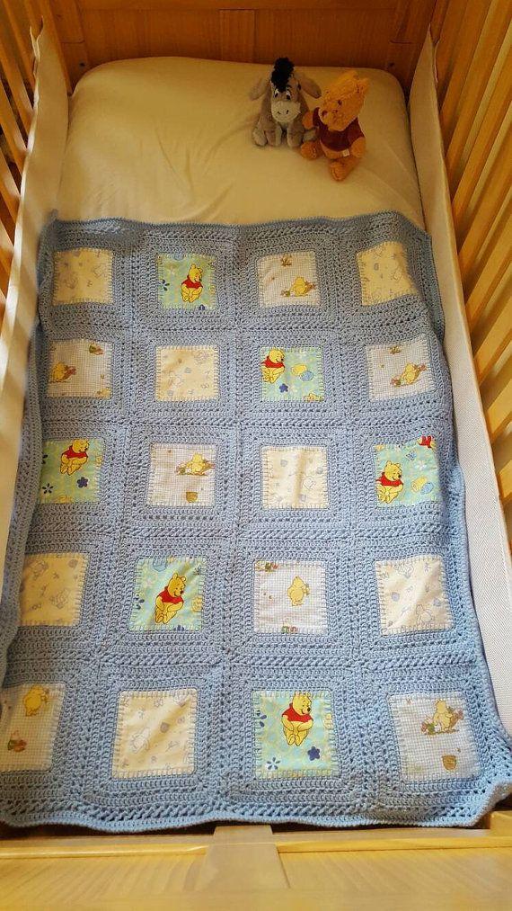 Winnie the Pooh Crochet and Fabric Fusion by BloominHeatherYarn