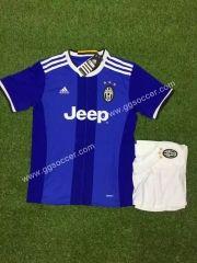 2016/17 Juventus Away Bule Kids/Youth Soccer Uniform
