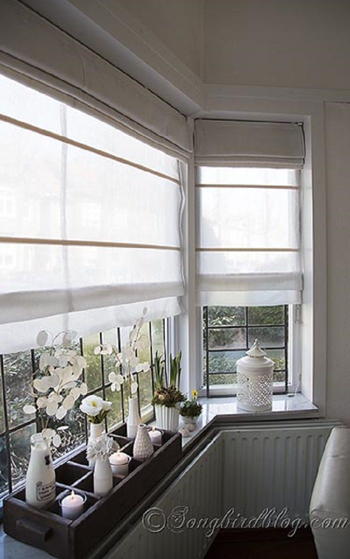 Linen for Bay window sill ideas