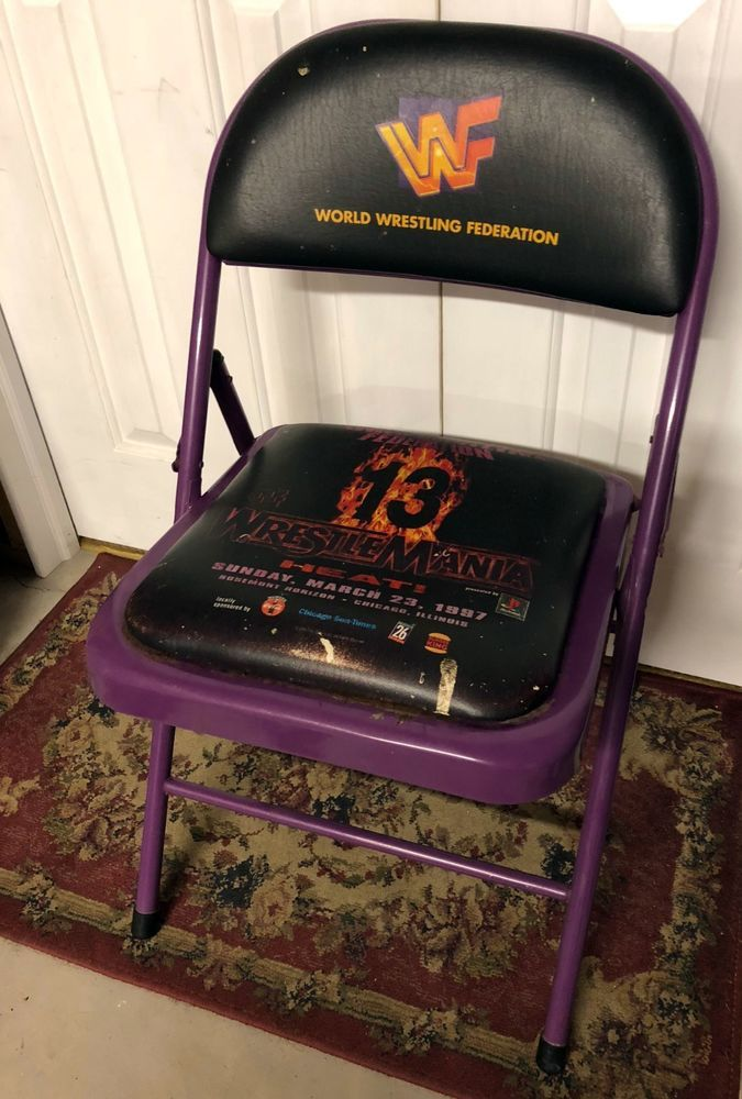 Vintage WWF/WWE Wrestlemania 13 Event Chair- Chicago - Rosemont Horizon #Wrestling #WWE #WWF & Vintage WWF/WWE Wrestlemania 13 Event Chair- Chicago - Rosemont ...