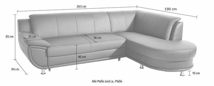 Polsterecke, wahlweise mit Bettfunktion ab 699,99€. Wahlweise mit Bettfunktion, Inklusive komfortablem Federkern, Frei im Raum stellbar bei OTTO