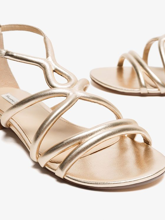 Autumn Spring summer 2017 Women´s LAMINATED SANDALS at Massimo Dutti for 98.5. Effortless elegance!