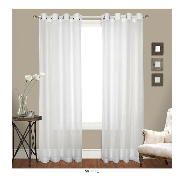 white grommet top curtains over white shade http www