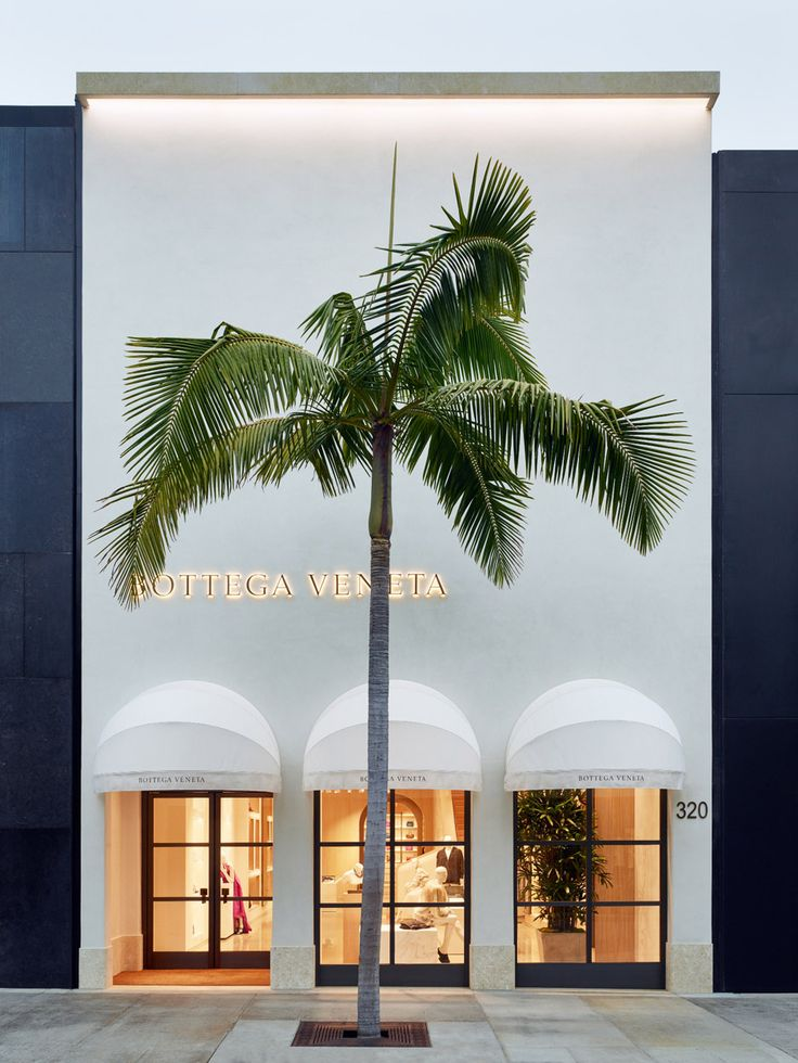 Bottega Veneta's shop in Beverly Hills is inspired by Spanish Colonial Revival architecture