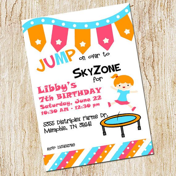 15 best Trampoline Party images on Pinterest Birthday party ideas - best of invitation wording for gymnastics party