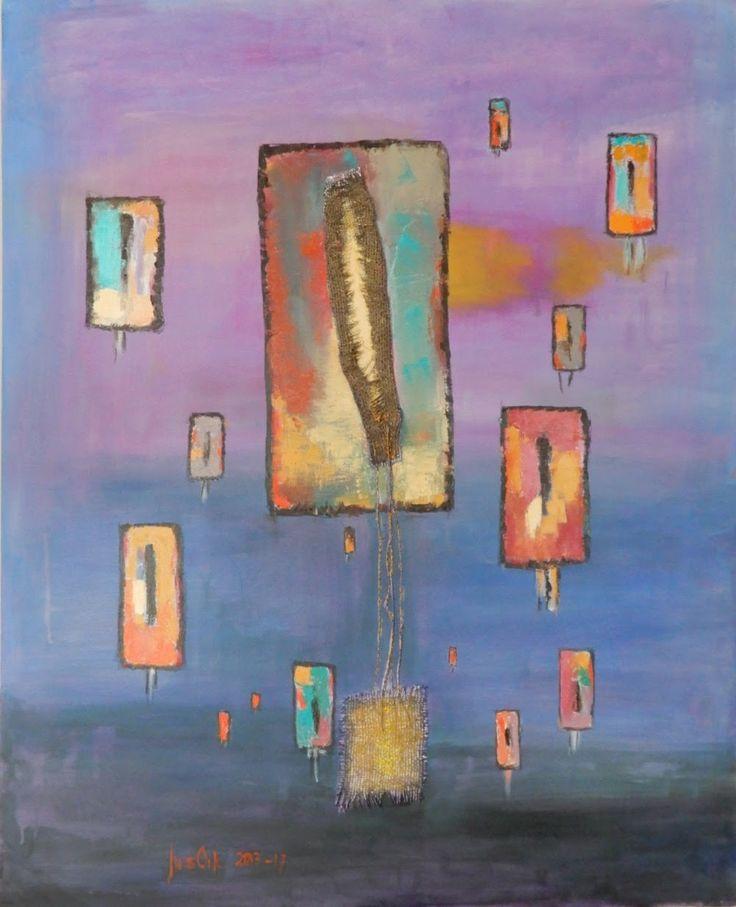 Awakenings, Heräämisiä, 80x100, oil on canvas, 2013-17. Www.jusoik.com