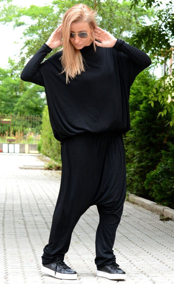Mono Harem / mameluco de negro / negro mono /Maxi mono / gran