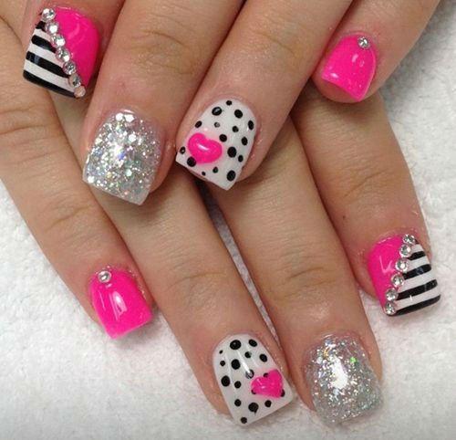 uñas acrilicas de san valentin #uñasacrilicas #uñasdecoradas #arteuñas