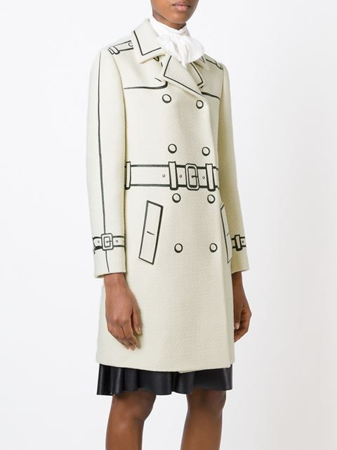 Boutique Moschino Trompe L'oeil Double Breasted Coat - Al Ostoura - Farfetch.com