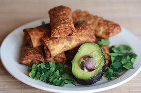 Southwest Avocado Egg Rolls