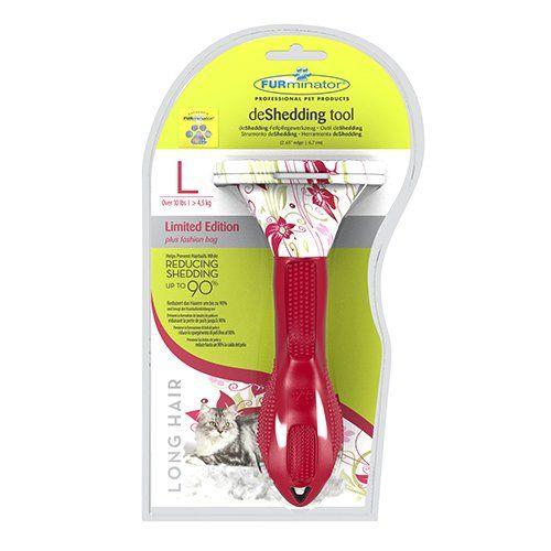 Shampooing et toilettage - Brosse Furminator - Ed. Floral - Poils longs pour chats