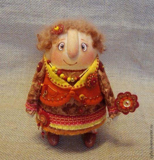 Купить Осенняя фея - рыжий, осень, осенняя, подарок, авторская игрушка, коллекционная кукла, фея