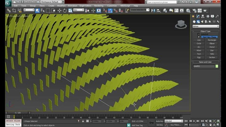 "3ds max - Superficie ""paramétrica"" Snapshot / Path Constraint"